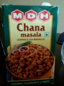 Chana masala curry mix